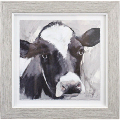 Framed Daisy Cow Wall Art