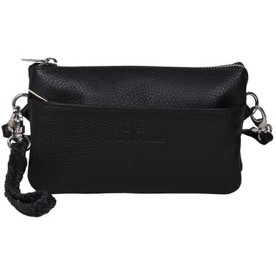 Sofie Small Leather Clutch/Sling Bag-Rambler Black