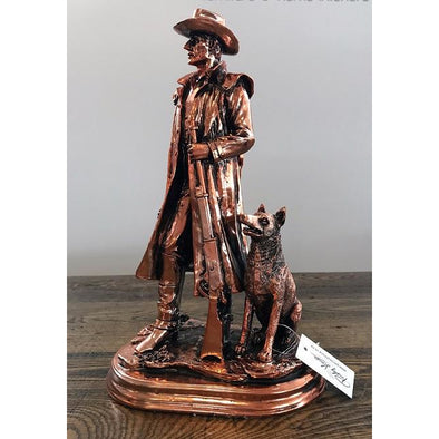 Copper Small Stockman With His Dog