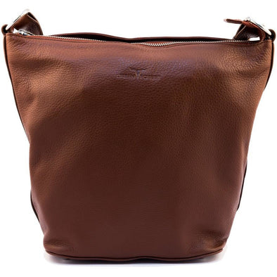 Lotus Leather Handbag - Redwood