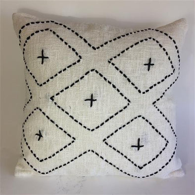 Mala Zig Zag Cushion-Natural