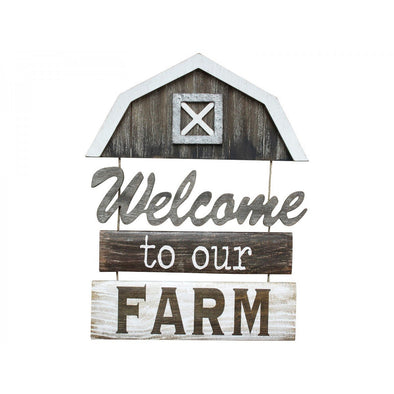 Hanging Welcome To Or Farm Sign