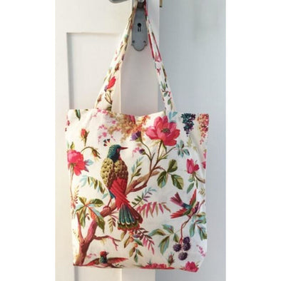 Paradise White Cotton Tote Bag