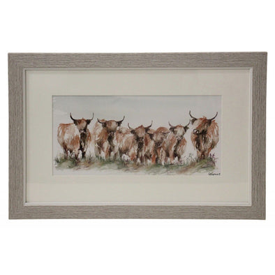 Framed Print - Yak Family