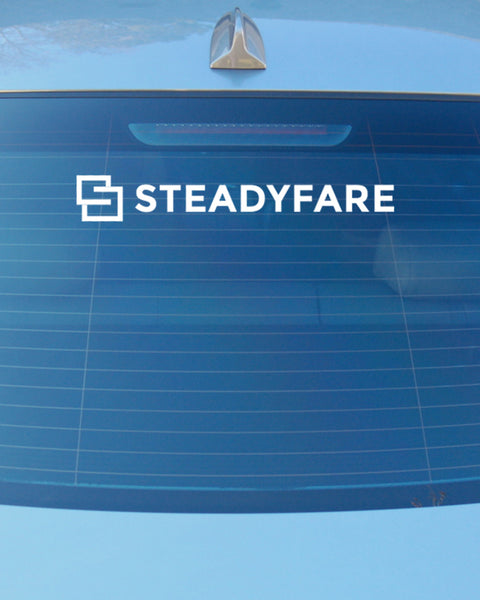 Your SteadyFare Back Window Decal