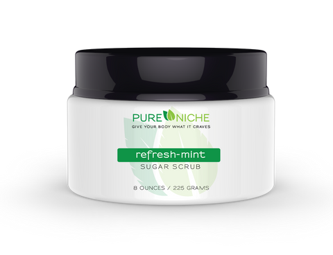 refresh-mint sugar scrub | Pure Niche
