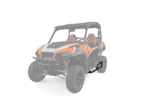 The Polaris General Extreme Kick Out Steel Rock Sliders are great for protecting your ATV, UTV or SXS.  Free Shipping and