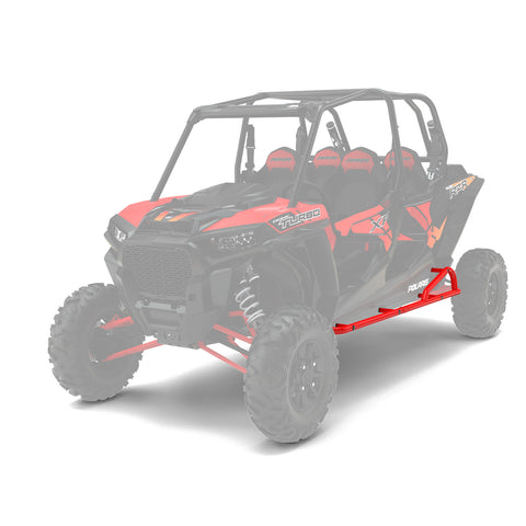 Polaris | 4 Passenger Kick-out Rock Sliders | Indy Red 2882079-293