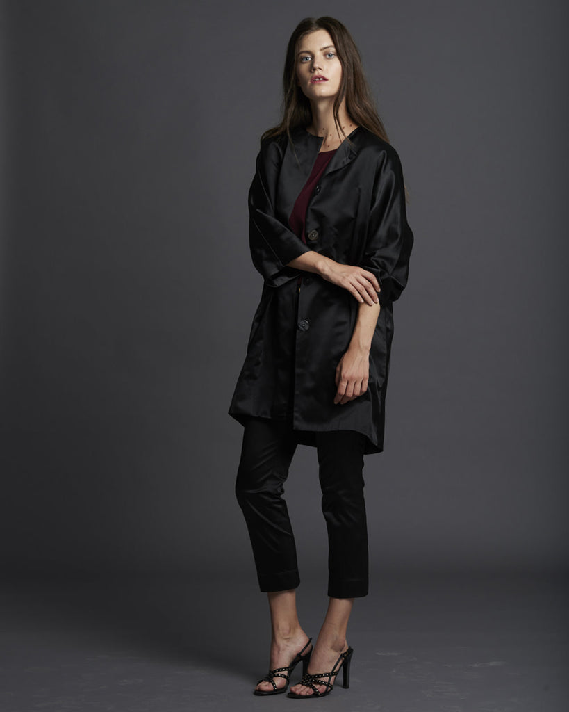 Duchesse Satin Coat
