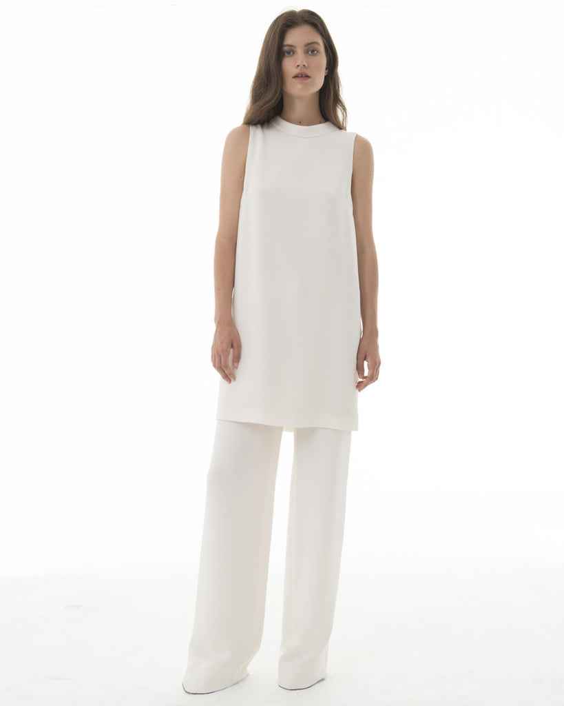 Wide Leg Trouser - Off White