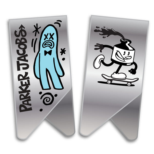 Limited edition Parker Jacobs - Inky Skater Clips