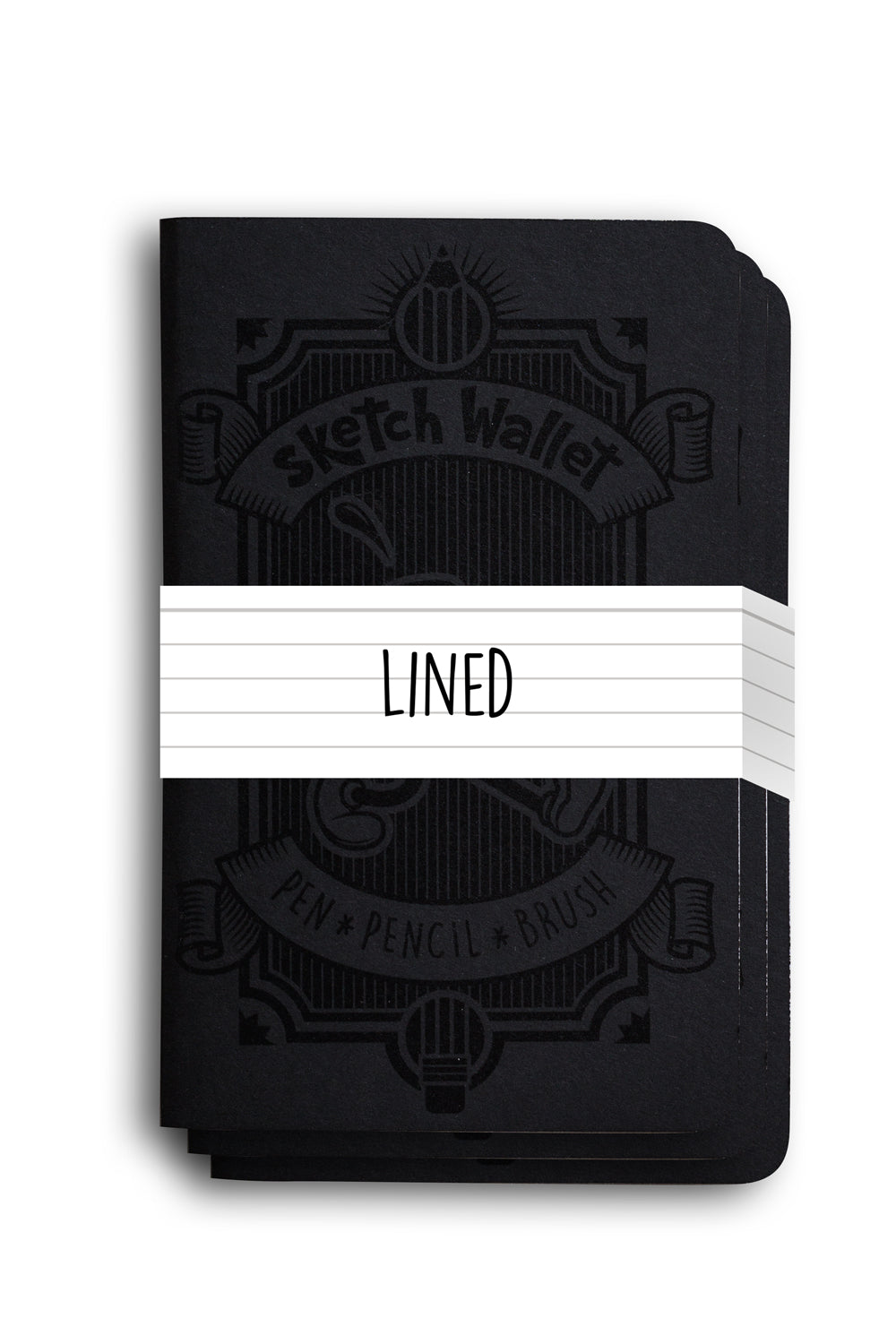 Original Lined Paper Sketchbooks - 3 Pack