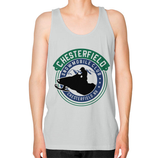 Unisex Fine Jersey Tank (on man) Silver D'Angelo Woodcraft
