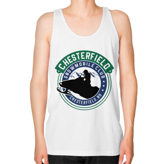 Unisex Fine Jersey Tank (on man) White D'Angelo Woodcraft