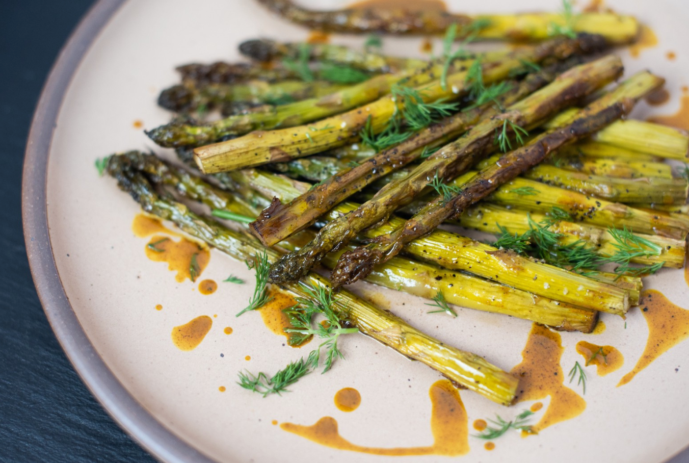 CBD Superfood Roasted Asparagus & Golden Spice Drizzle