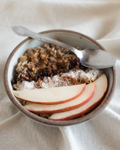 CBD Superfood Oatmeal with Pears and Honey