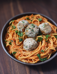 CBD Superfood x Smiling Hara Vegan Spaghetti and Meatballs