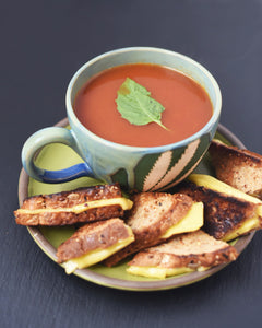 CBD Superfood Tomato Soup and Vegan Grilled Cheese