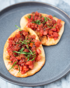 CBD Superfood Pita Bruschetta