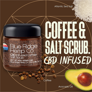 CBD Infused Coffee & Salt Scrub 4oz 100mg CBD
