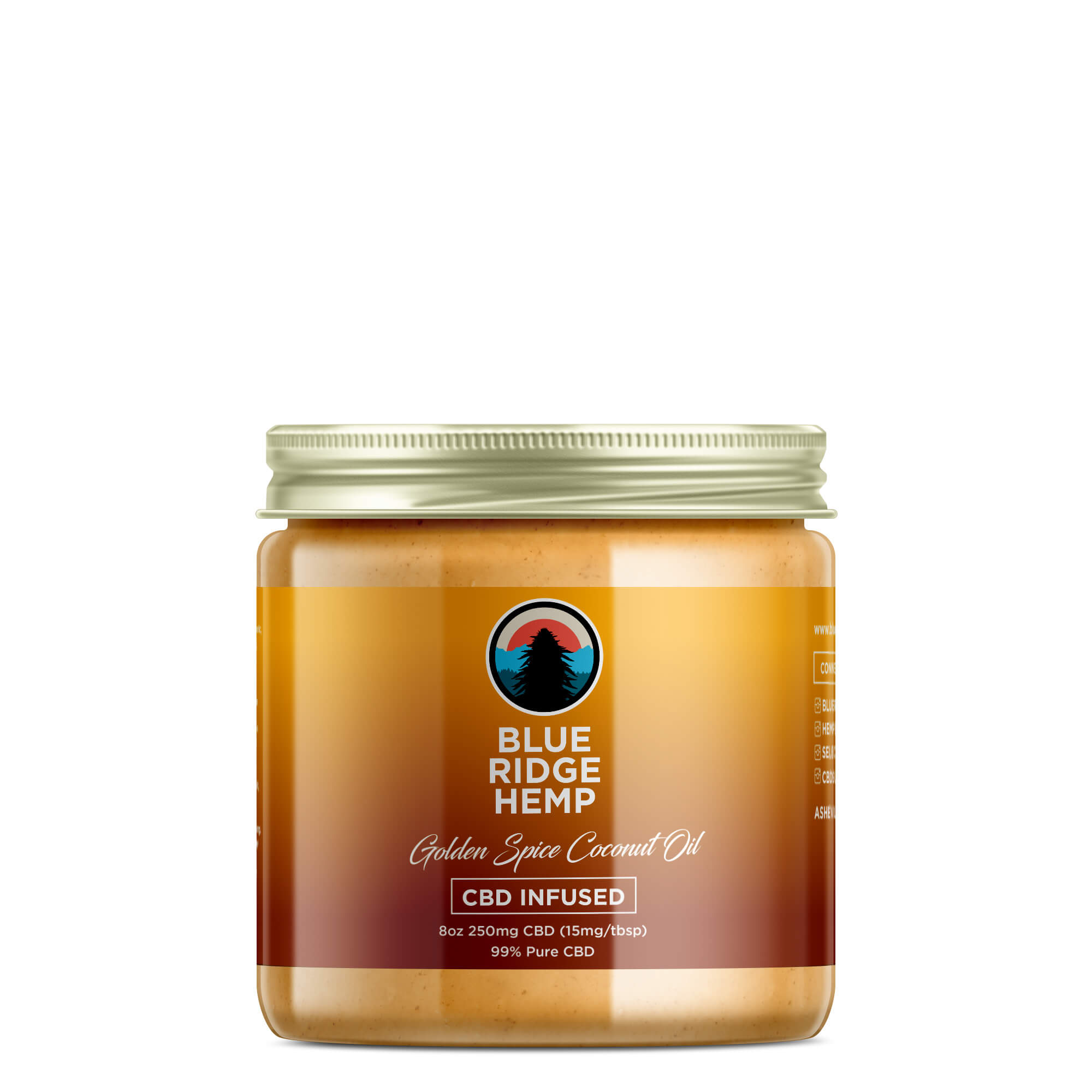 Golden Spice CBD Coconut Oil 8oz 250mg CBD