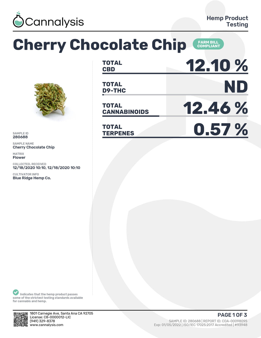 Cherry Chocolate Chip Tastemakers Hemp Exotics (New)