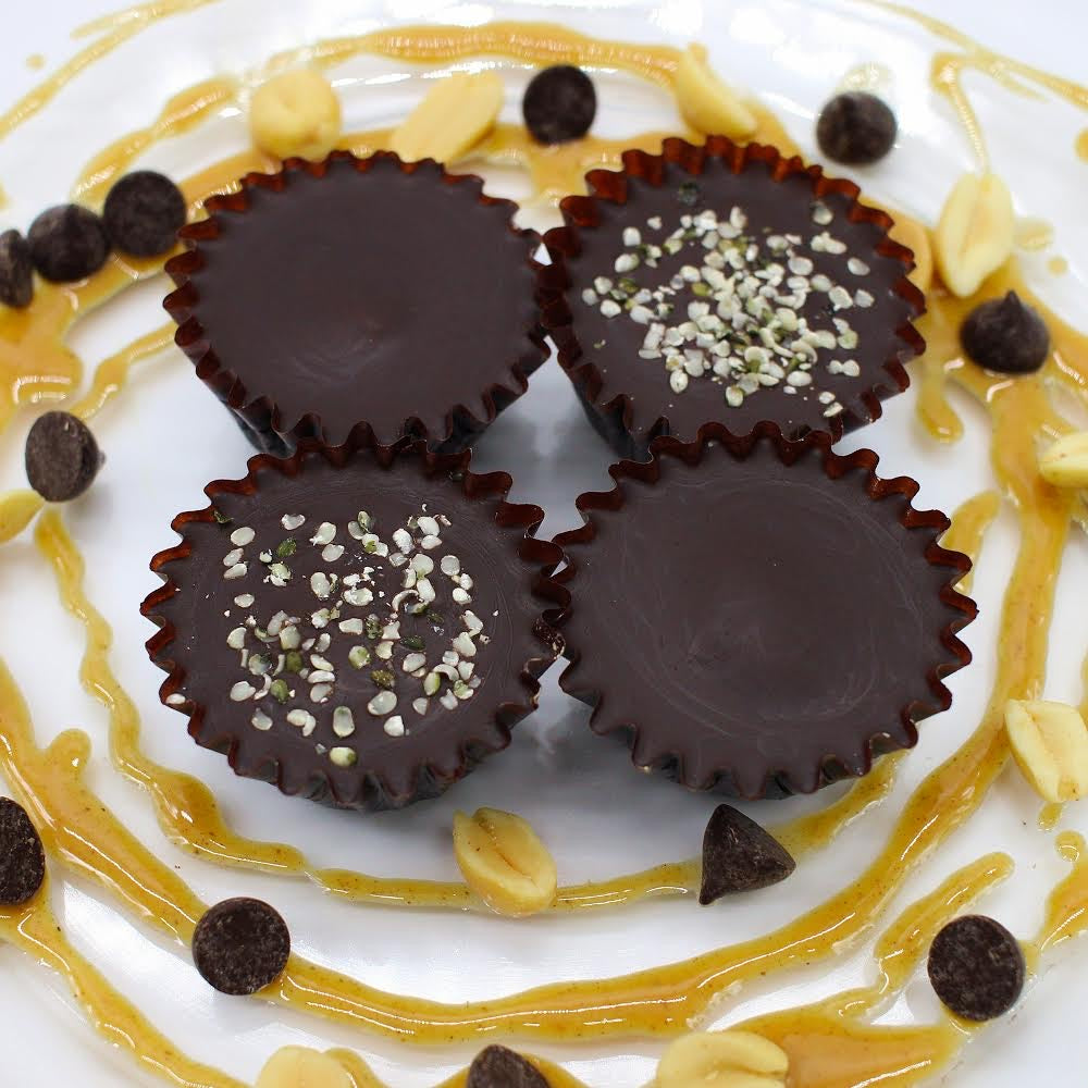 Vegan Dark Chocolate CBD Peanut Butter Cups