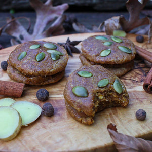 V&GF Raw Chewy Peanut Butter Pumpkin Pie Sandwich Cookies TREAT