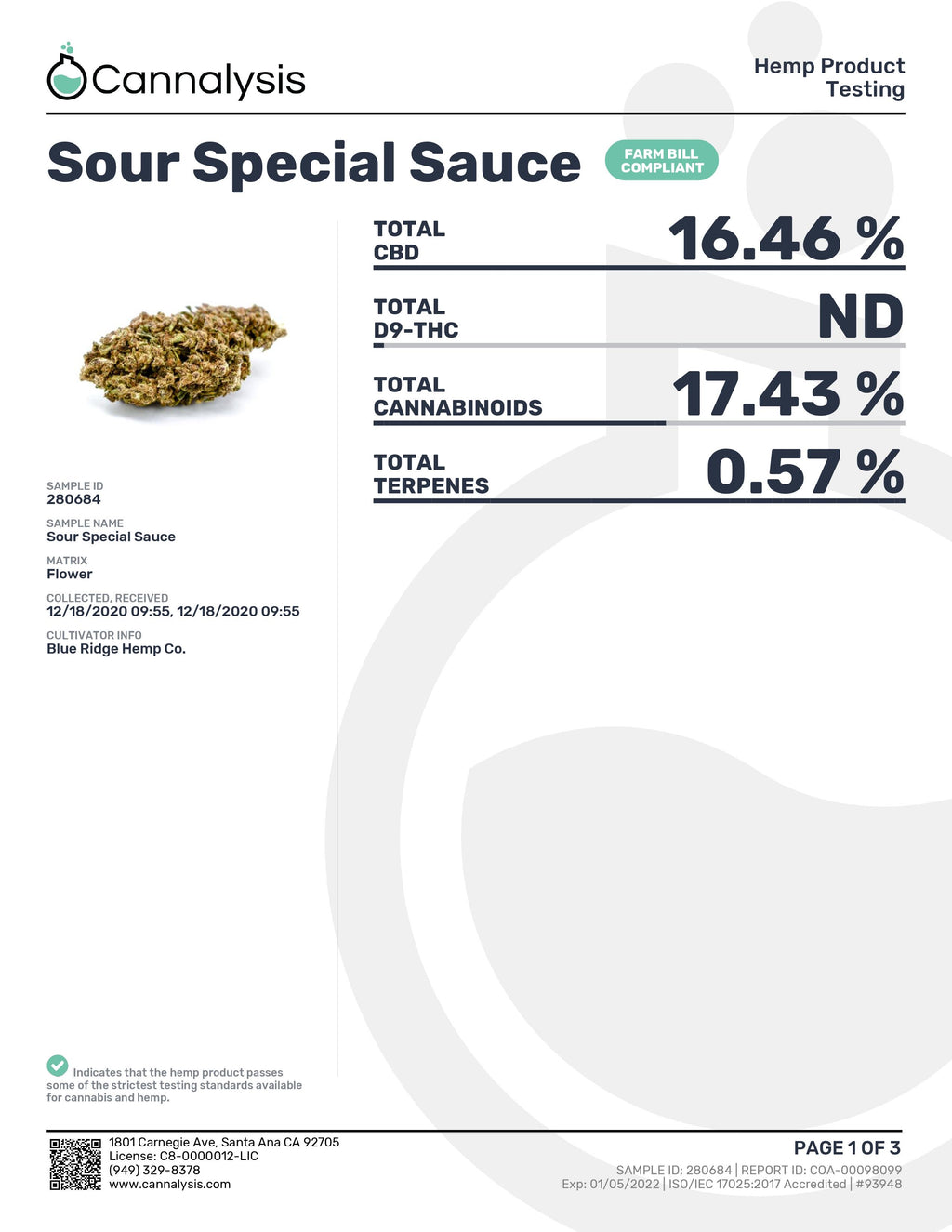 SOUR Special Sauce Strain Blue Ridge Selects Flower (NEW)