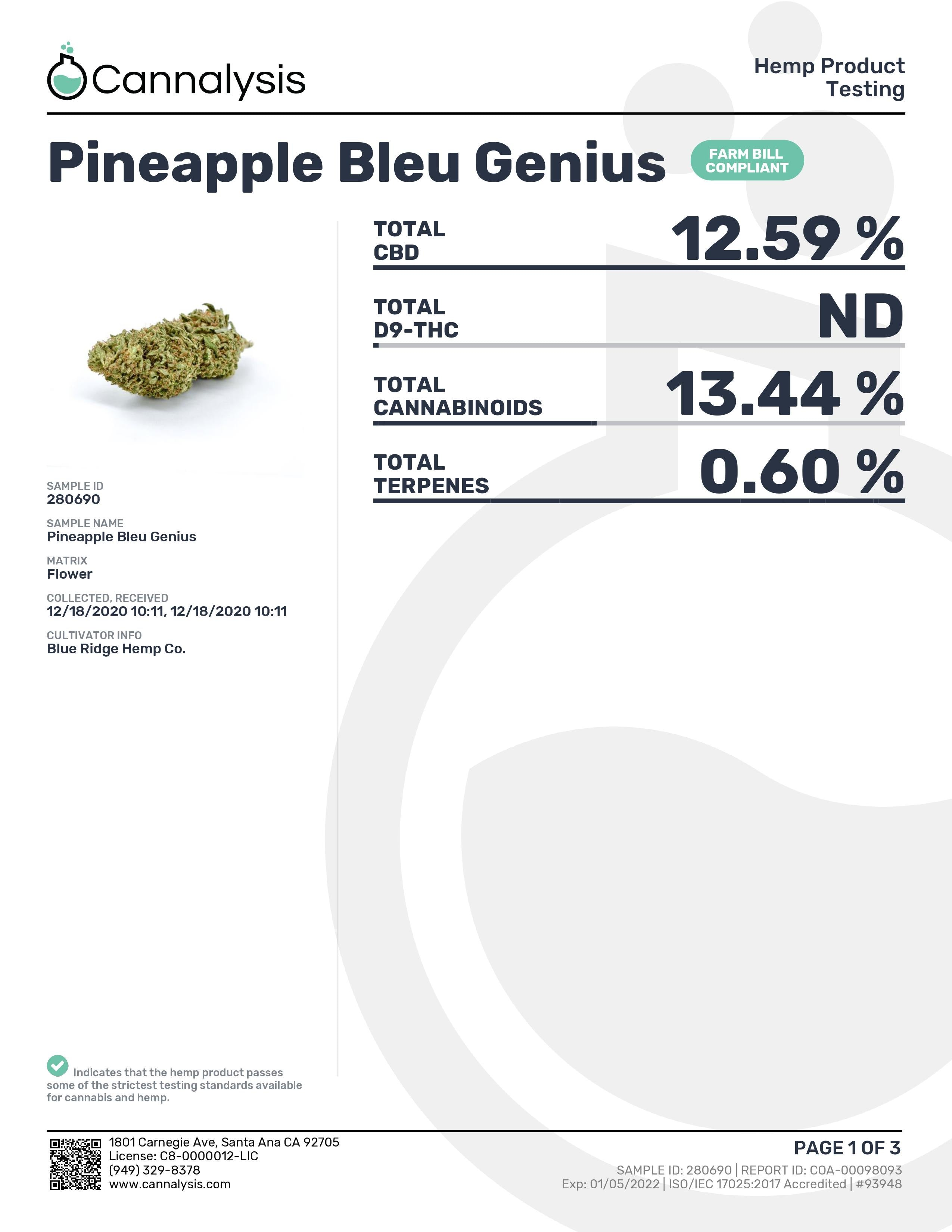 Pineapple Bleu Genius Tastemakers Hemp Exotics (New)