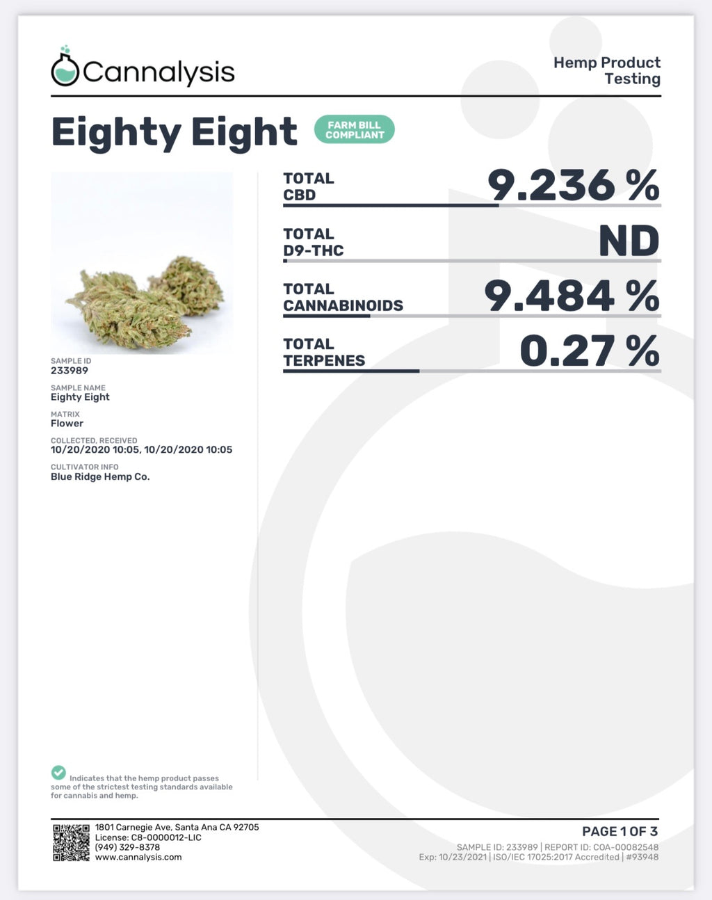 Eighty Eight Strain Blue Ridge Selects Flower (New)