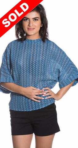Crochet Blue Blouse