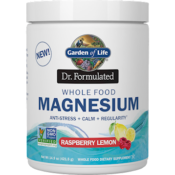 Garden of Life: Dr. Formulated Magnesium Rasp Lem 14.9oz