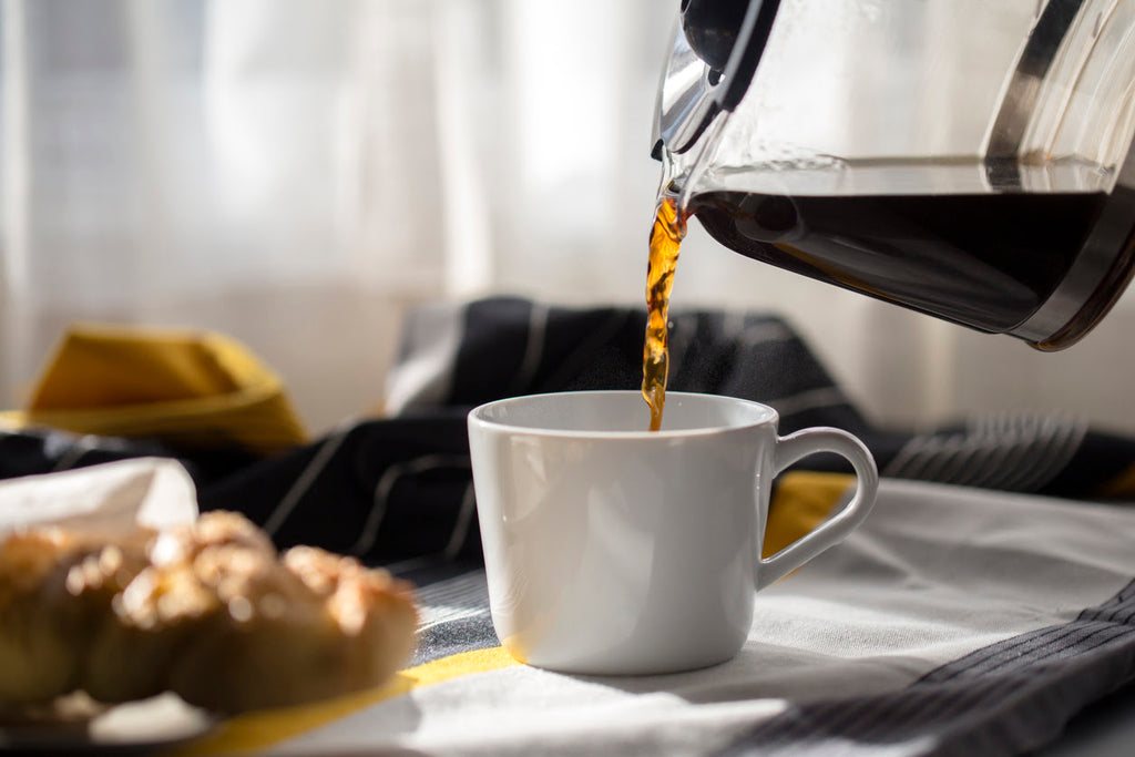 Pouring morning coffee - harming your sleep cycle concept