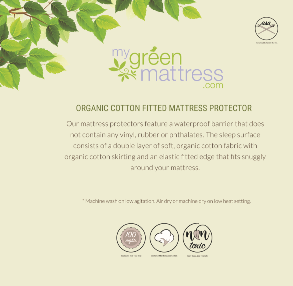 My Green Mattress | Mattress Protector Box (Back)