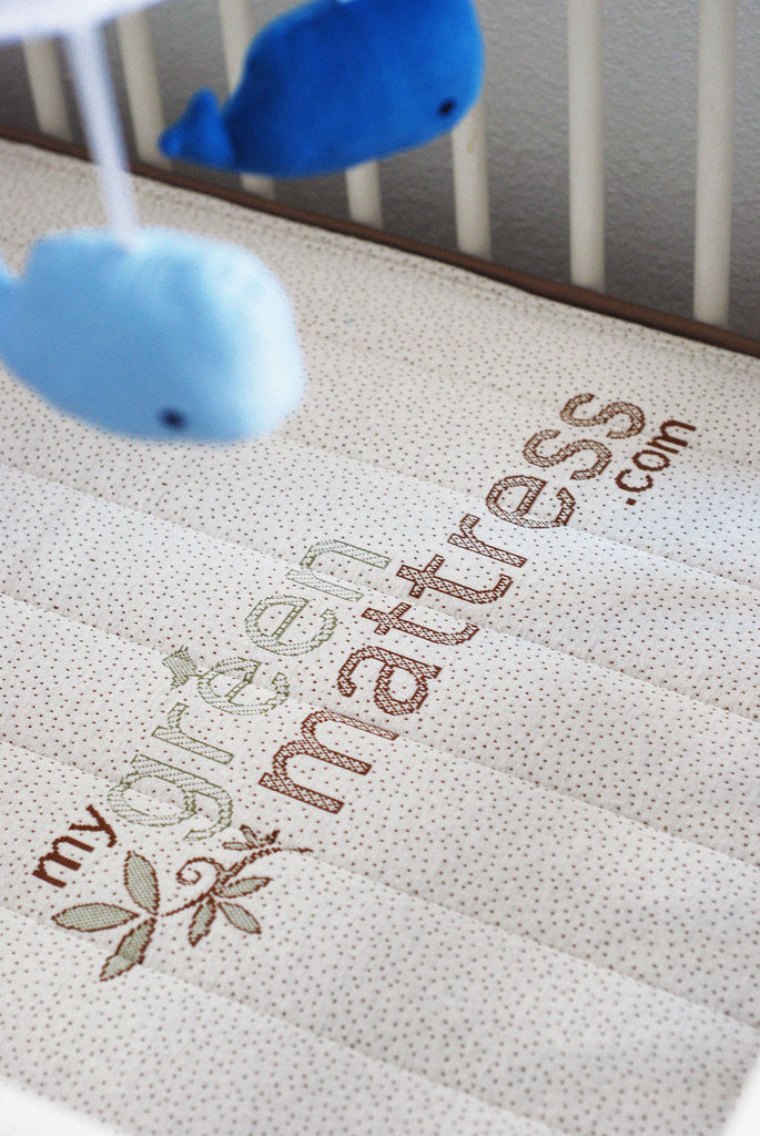Emily Natural Crib Mattress - Crib Top View
