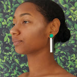 EXCLAMATION EARRINGS | AQUA