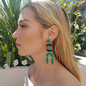 RESORT EARRINGS | AQUA