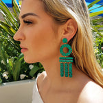 WIND CHIME EARRINGS | AQUA