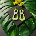 HOURGLASS EARRINGS | PASTEL LIME