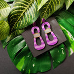 HOURGLASS EARRINGS | PASTEL PASSION FRUIT