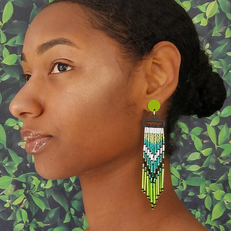 WATERFALL EARRINGS | LIME