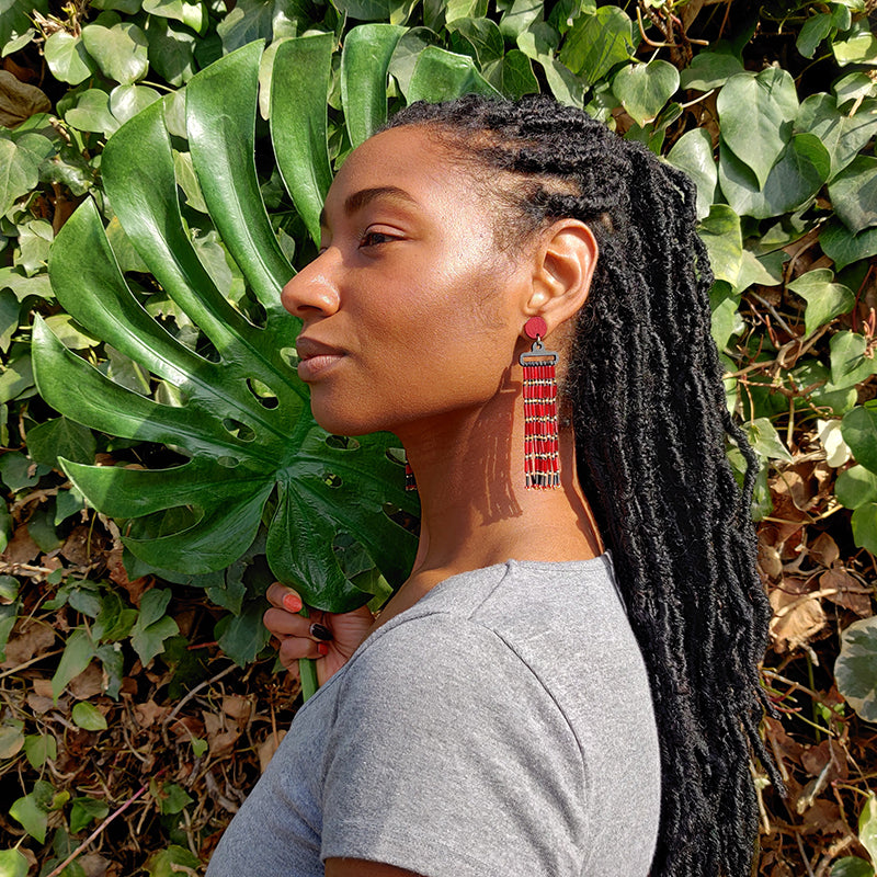 WATERFALL EARRINGS | POMEGRANATE