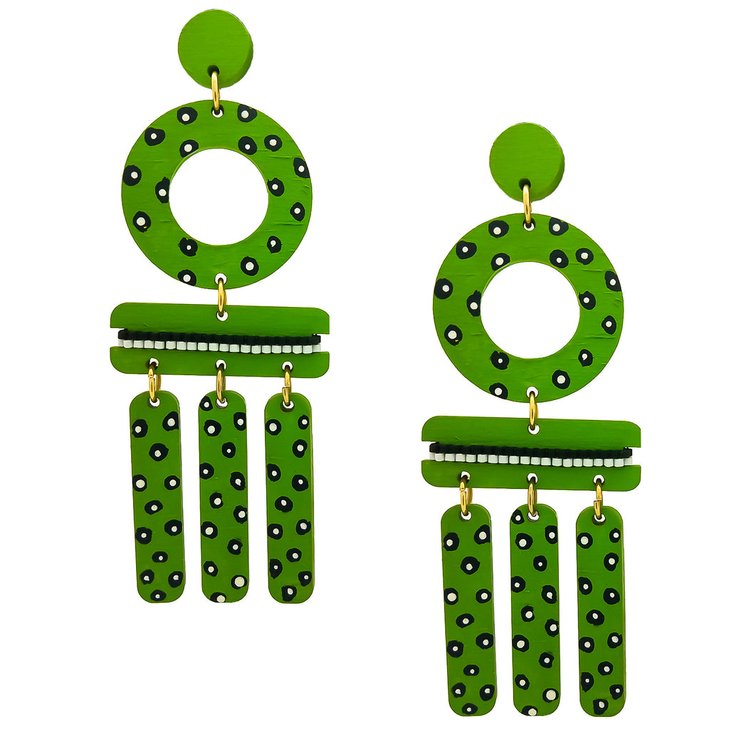 WIND CHIME EARRINGS | LIME