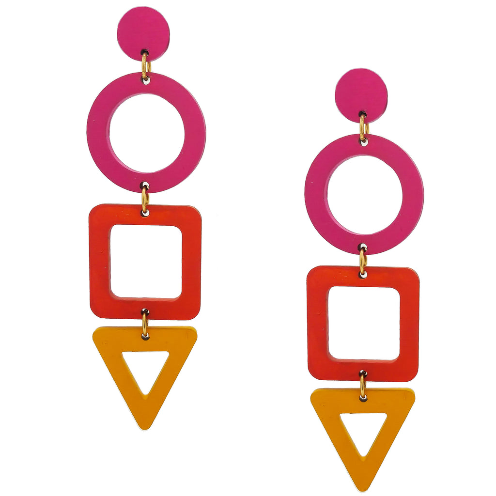 STACKED SHAPE EARRINGS | SUNSPLASH
