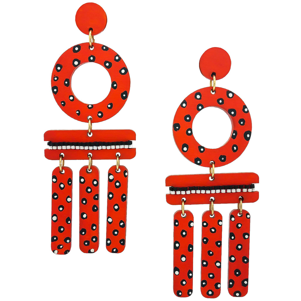 WIND CHIME EARRINGS | PAPAYA