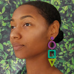 STACKED SHAPE EARRINGS | SALTWATER