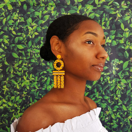 WIND CHIME EARRINGS | PINEAPPLE