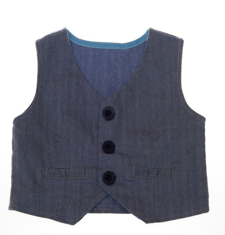 Denim Print Vest Boys