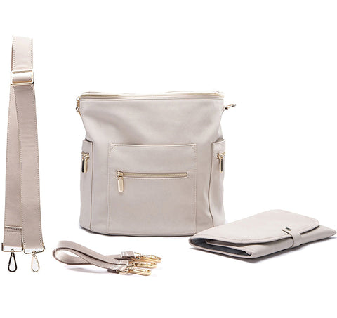 Miss Fong Diaper Backpack - Grey